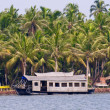 A houseboat on the backwaters of Kerala, India — Stock Photo