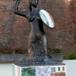 WARSAW, POLAND - JUNE 16: Siren Statue with football decorates U — Stock Photo #11455922