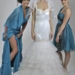 Portrait of a three beautiful woman in wedding dress — Stock Photo #10949521