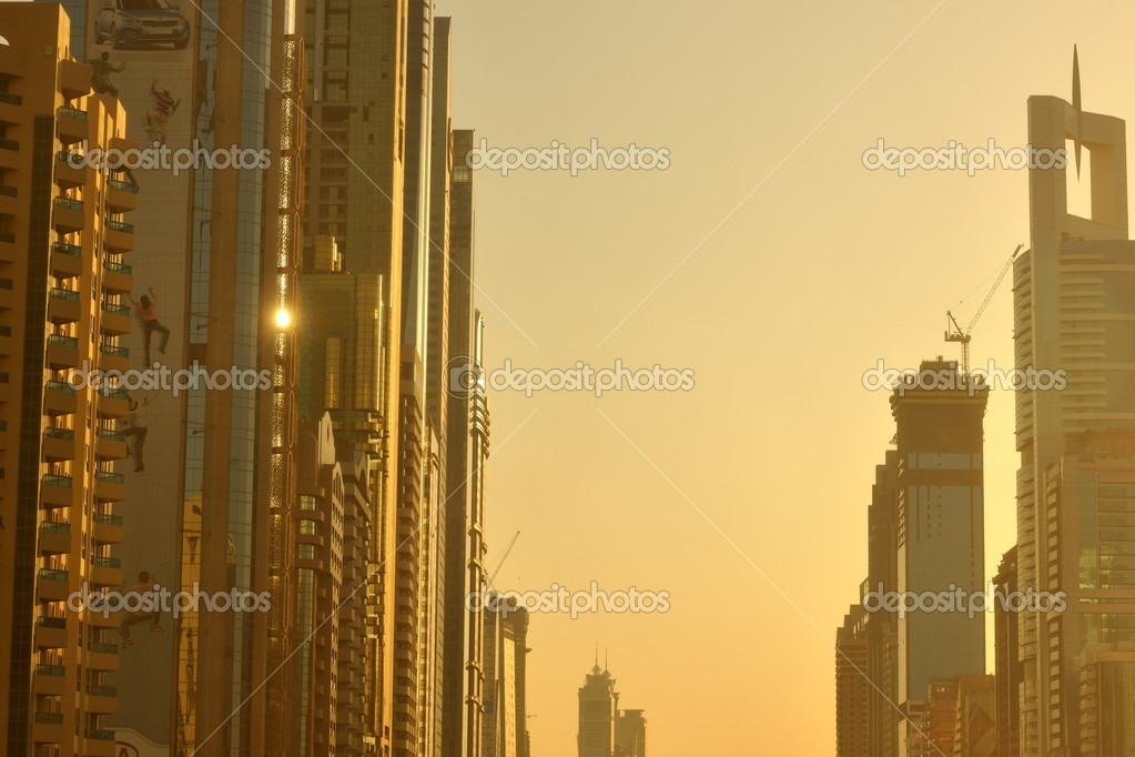 Traffic jam in big city at sunset — Stock Photo #10950564