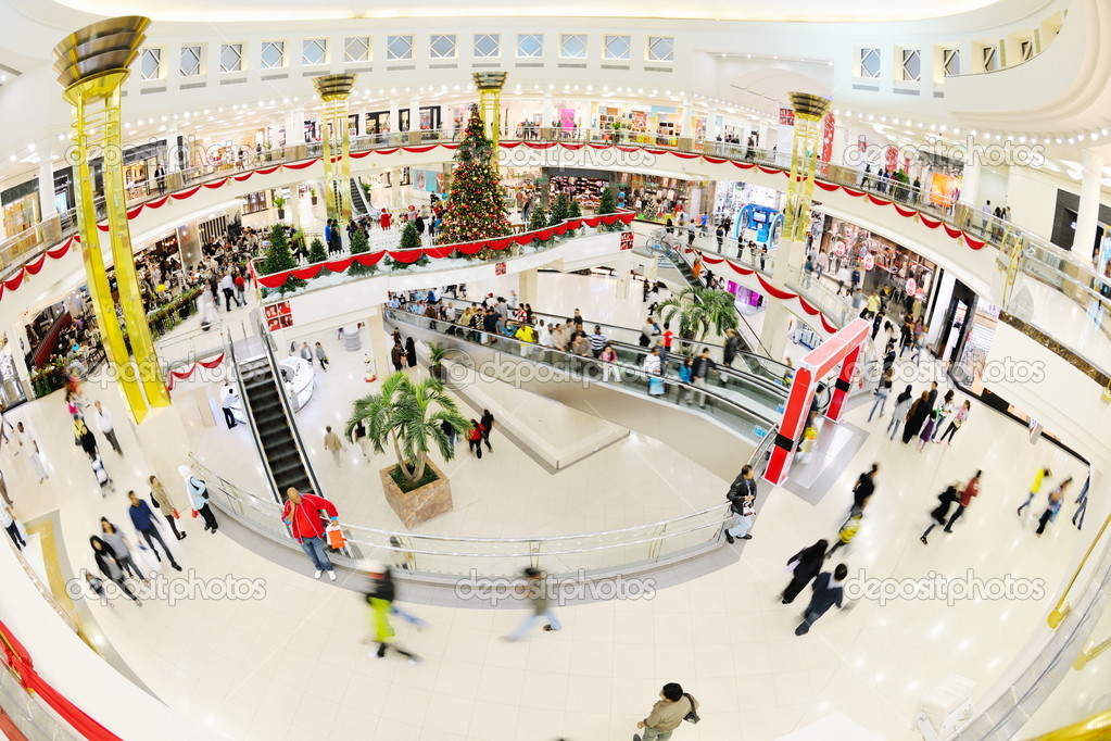 Interior of a shopping mall — Stock Photo © .shock #10953241