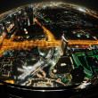 Panorama of down town Dubai city at night — Stock Photo #10994573