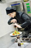Chef preparing meal — Stock Photo