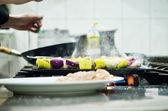 Chef preparing meal — Stock Photo