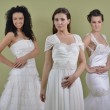 Portrait of a three beautiful woman in wedding dress — Stock Photo #11253063