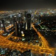 Panorama of down town Dubai city at night — Stock Photo #11308291