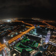 Panorama of down town Dubai city at night — Stock Photo #11308507