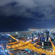 Panorama of down town Dubai city at night — Stock Photo