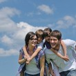 Happy young family have fun outdoors — Stock Photo #11708645
