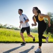 Young couple jogging — Stock Photo #11936629
