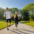 Royalty-Free Stock Photo: Young couple jogging