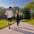Young couple jogging — Stock Photo #11936636