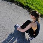 Young beautiful woman jogging — Stock Photo #11936638