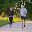 Young couple jogging — Stock Photo #11936649