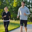 Young couple jogging — Stock Photo #11936654