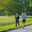 Young couple jogging — Stock Photo #11936667