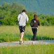 Young couple jogging — Stock Photo #11936684