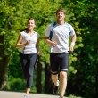 Young couple jogging — Stock Photo #11936992