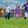 Happy kids group have fun in nature — Stockfoto #11938658