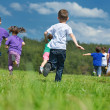 Happy kids group have fun in nature — Stock Photo #11938669