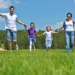 Happy young family have fun outdoors — Stock Photo #11938755