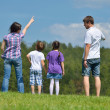 Happy young family have fun outdoors — Stock Photo