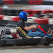 Stock Photo: Indoor karting
