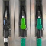 Gasoline pump nozzles — Stock Photo