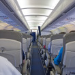 Aircraft cabine — Stock Photo