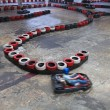 Indoor carting hall - Stock Photo