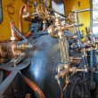 Steam powered engine - Stock Photo