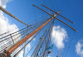 Ships masts — Stock Photo