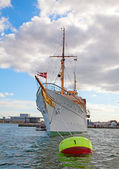 Danish Royal yacht — Stock Photo