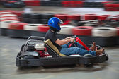 Indoor karting — Stock Photo