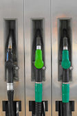 Gasoline pump nozzles — Stock Photo