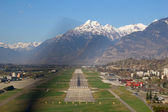 Airport runway — Stock Photo