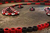 Indoor karting — Stock Photo