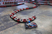 Indoor carting hall — Stock Photo
