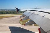 Civil aircraft taking off — Stock Photo