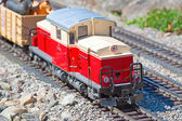 Miniature train model — Stock Photo