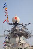 Modern battleship — Stock Photo
