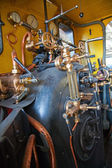 Steam powered engine — Stock Photo