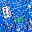 Swiss road signs — Stock Photo