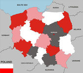Mapa de polonia — Foto de Stock