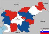 Slovenia map — Stock Photo