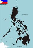 Philippinen karte — Stockfoto