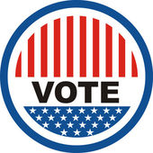 Vote badge — Stock Photo