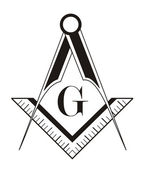 Freemason symbol — Stock Photo