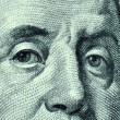 Benjamin Franklin closeup — Stock Photo