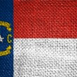North carolina state flag — Stock Photo
